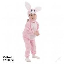 Dětský karnevalový kostým RŮŽOVÝ KRÁLÍČEK 92 - 104cm ( 3 - 4 roky )
